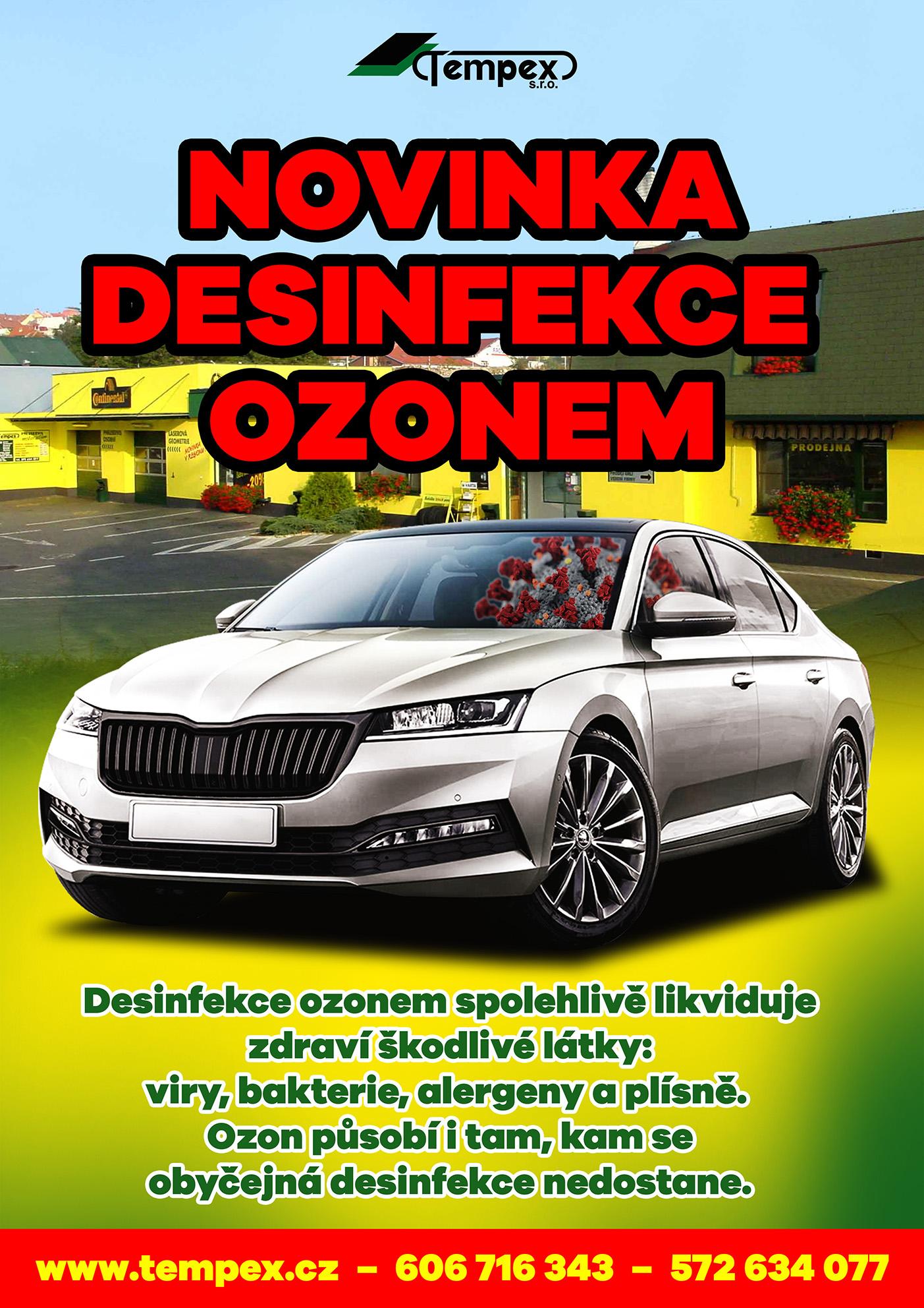 Novinka - Desinfekce ozonem