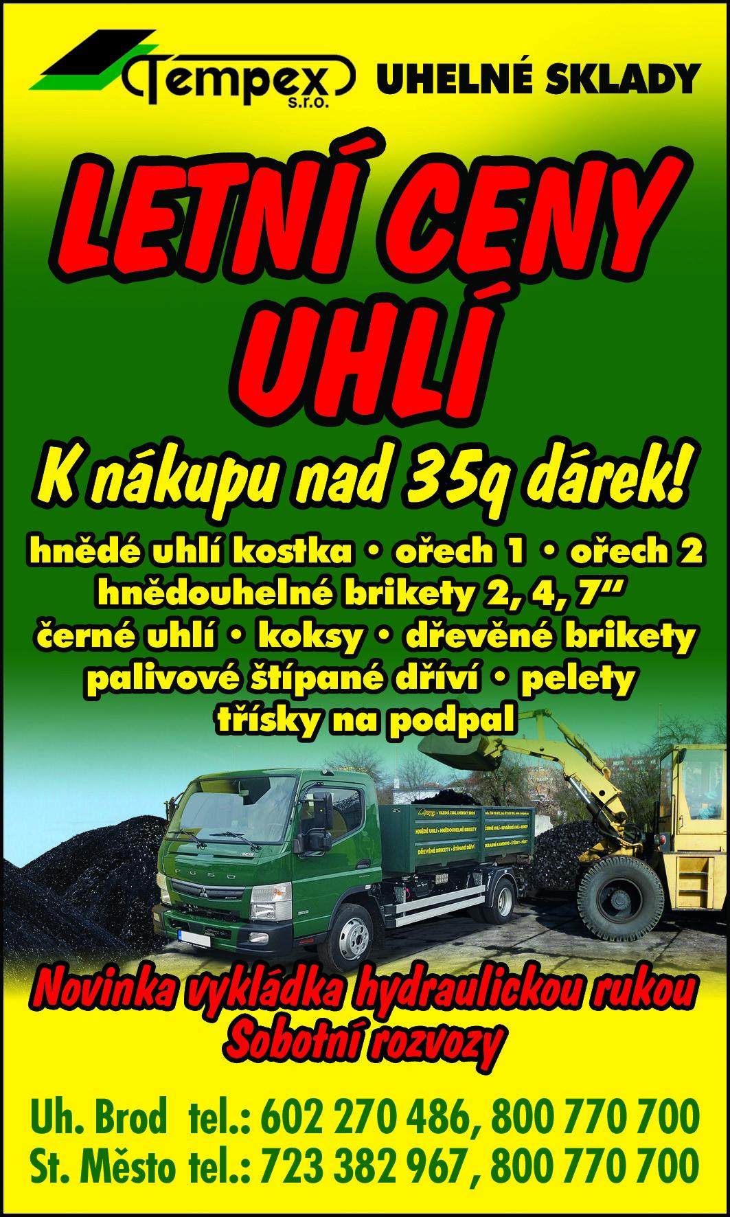 Letní ceny uhlí !!!